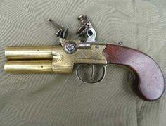 Over and Under Flintlock Pocket Pistol
