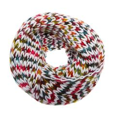 Chunky Knit Rainbow Cowl //neck cozy~