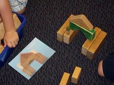 Pictures of block structures for students to replicate. ≈≈