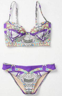 bath suit, summer swimsuits, fashion, cloth, style, mara hoffman, bikinis, beach, tribal prints