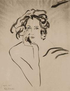 Art - Drawing - Evangeline Bruce