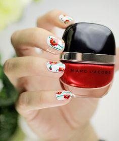 Poppy Nail art Tutorial