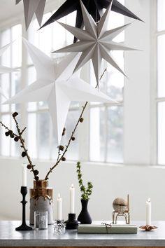 Design Vintage   White Cardboard Star   Hanging Star   Large Star