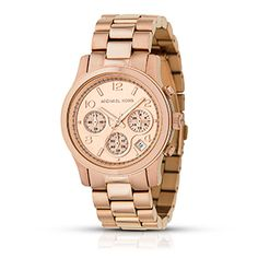 Michael Kors Rose Golden Midsized Chronograph Watch. Should try this on in person somewhere, since I haven't worn a watch in years and have no idea whether the proportions would work. Love rose gold though. I can get this for $142.90 in my CitiCards Extra Cash center, 42% off retail price of 250.