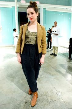 Street Style Fashion From L.A.'s A-List #refinery29  http://www.refinery29.com/vanessa-bruno-bash-street-style-fashion#slide6