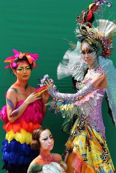 Models participate in the 2009 Daegu International Bodypainting Festival on September 12, 2009 in Daegu, South Korea.