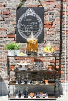 turn a shelf into an outdoor bar.