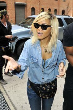 Rihanna Medium Straight Cut