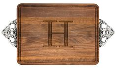 Walnut Wiltshire 9x12 inch Monogrammed Cutting Board