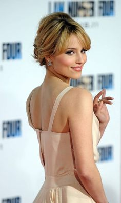diana agron updo