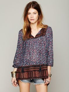 Free People Border Print Tunic at Free People Clothing Boutique