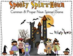 Common and Proper Nouns - Spooky Spin-a-Noun FREEBIE