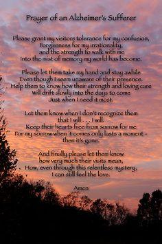 Prayer of an Alzheimer's Sufferer