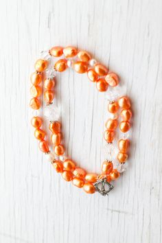 Tangerine Orange Freshwater pearl Necklace