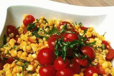 pan roasted corn salad