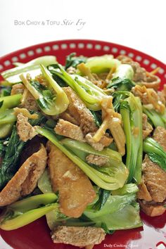 Bok Choy and Tofu Stir Fry