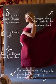 Maternity session...shows lighting  fan setup, as well as how to post-process.