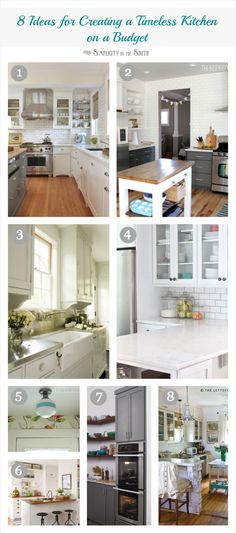 8 tips for creating a timeless dream kitchen on a budget.