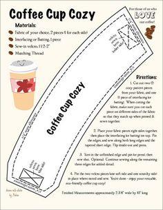 PDF Pattern: Coffee cup cozy