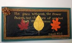 spring church bulletin boards | Eastunders Creations: 2013 Fall Bulletin Boards | Sunday School