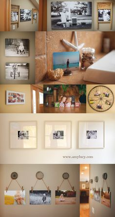 Wall displays by photographer Amy Lucy Lockheart.  So many other great display ideas in this post!