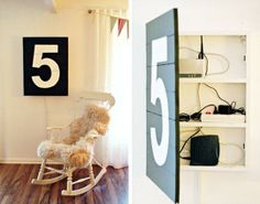 10 Ways to Hide Valuables In a Home In Plain Sight: Add a piece of artwork to the front of a medicine cabinet.