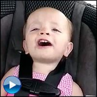 Sweet Baby Girl Sings Her Heart Out to Elvis in the Car - Cute Video