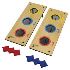 3 Hole Bag and 3 Hole Washer Toss Game Set