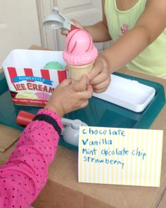 Ice Cream Parlor Fun with Kids *Plus cloud dough recipe for pretend play