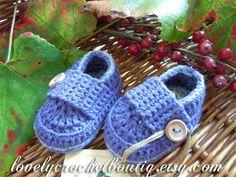 Baby booties crochet Loafers