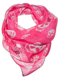 ❦  Alexander McQueen Skull chiffon scarf