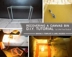 How-To: (re)cover a canvas bin   Little Free Radical