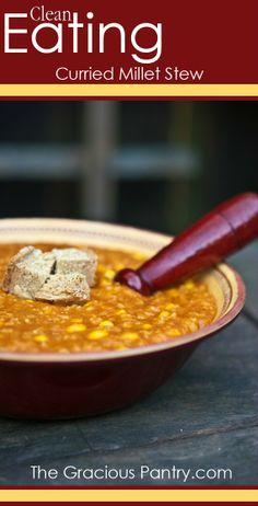 Curried Millet Stew #GlutenFree