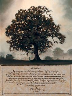 Living Life ~ I love this poem and inspirational art by Bonnie Mohr.