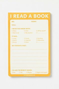 I Read A Book Notepad #anthropologie