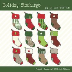 Free Christmas Clipart Stockings
