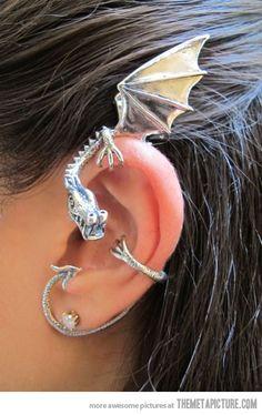 Dragon ear cuff...this is cute.