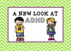 Taking a different look at ADHD.  You need to read this book!