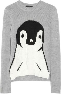 Penguin Intarsia Knitted Sweater
