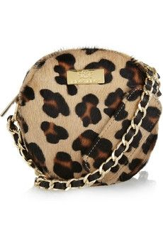 Meli Melo|Mini Bon Bon leopard-print calf hair bag|NET-A-PORTER.COM - StyleSays