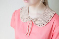 crochet scalloped collar