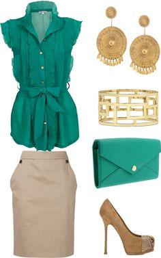 Spring Business Attire, created by niki-jones on Polyvore