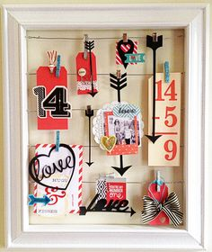 Table Scraps: Valentine Decor Frame