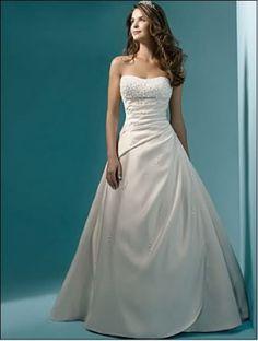 New storage whiteivory  Beautiful Wedding Dress (NWD009)