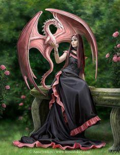 mystic, ann stoke, pink dragon, magic, fantasi, eleg dragon, dragons, fairi, stoke art