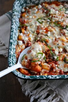 Pumpkin Sage and Sausage Baked Gnocchi - www.countrycleaver.com
