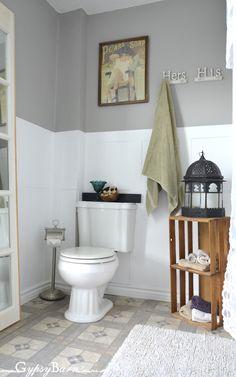 Gypsy Barn: $148.00 Bathroom Makeover