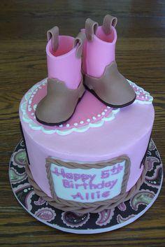 cowgirl boot fondant cake