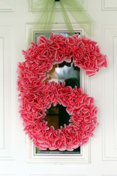 Number wreath with cupcake wrappers