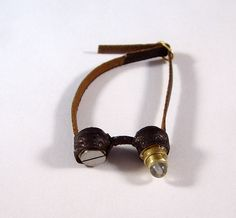 Miniature Medieval Leather Steampunk Goggles Ooak Dollhouse Mini. $25.00, via Etsy.
